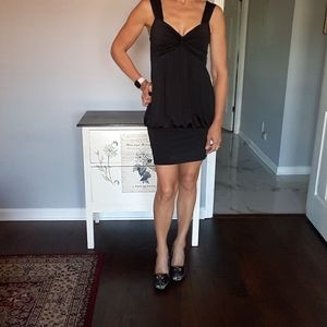 Twenty one black bubble dress with banded bottom